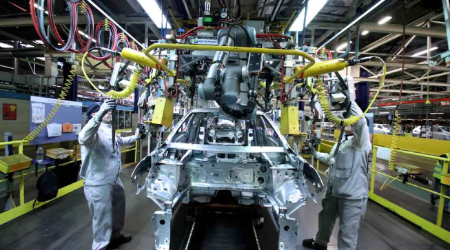 Usage Of Collaborative Robots In Production Line Of Automobile Sector.