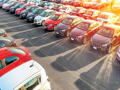 Lots Of New Cars For Sale In A Parking -Automotive Sector